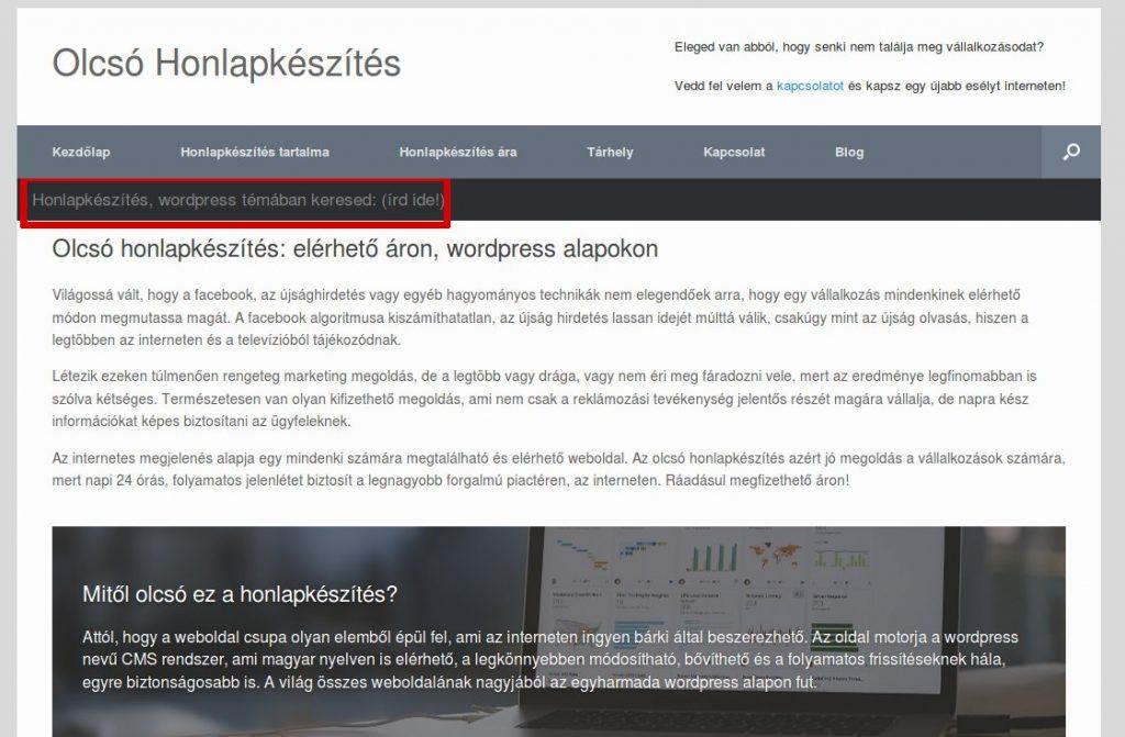 Wordpress sablon és plugin fordítás: Keresés szövegének eredetije
