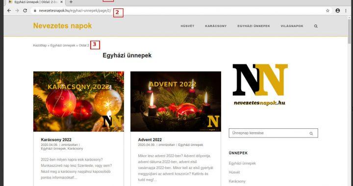 Nevezetes ünnepek weboldal Seo